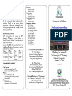 National Symposium 2015 Leaflet
