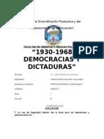 DEMOCRACIAS Y DICTADURAS