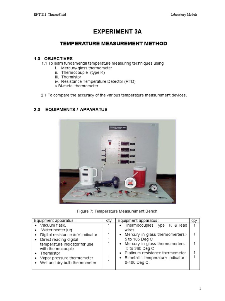 Temperature Measurement Method Thermocouple Thermometer Resistance Wiring Diagram