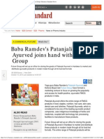 Baba Ramdev's Patanjali Ayurved Joins Hand With Future Group _ Business Standar