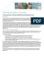 Mission stabilization plan framework