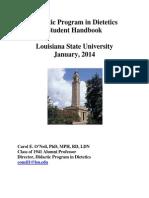 Didactic Program in Dietetics Student Handbook REVISED 20140101s
