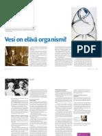 Vesi On Elävä Organismi! (Minä Olen -lehti 1/2012)
