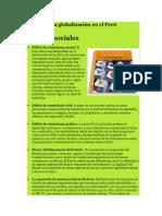 Aspectos de La Globalización en El Perú