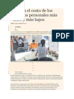 Conozca El Costo de Los Créditos Personales Más Altos y Más Bajos_571
