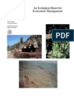 An Ecological Basis for Ecosystem Management