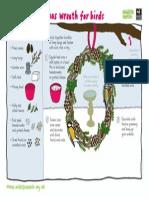 Christmas Bird Wreath