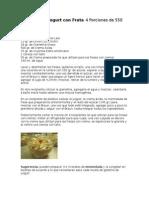 Receta de Gelatina de Yogurt y Ensalada Búfalo