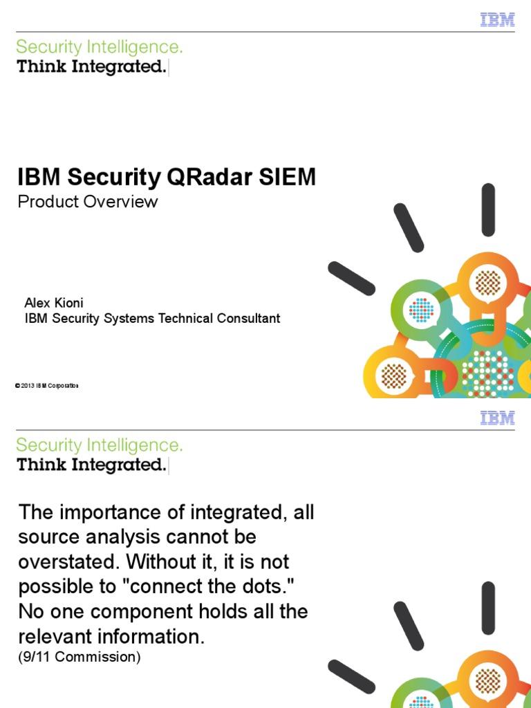 QRadar SIEM Overview   Threat (Computer)   Security Alarm