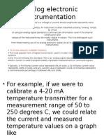 Analog Electronic Instrumentation
