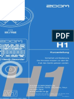 Handy Recorder H1 Manual in German