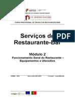 Funcionamento Geral do Restaurante - Equipamentos e Utensilios