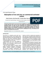 Adsorption of Iron and Zinx on Commercial Activated Carbon