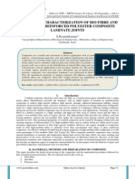 MECHANICAL CHARACTERIZATION OF BIO-FIBRE AND GLASS FIBRE REINFORCED POLYESTER COMPOSITE LAMINATE JOINTS
