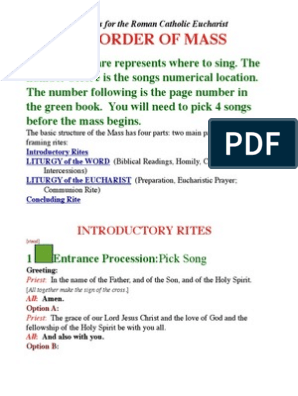 Catholic Songs For Mass