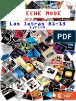 Depeche Mode. Las Letras 81-13 - Martin L. Gore