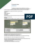 Oracle Receivables – AR Transaction Types