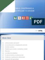 Ideas Tema6. Enseñar a multiplicar y dividir