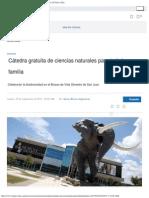 Cátedra Gratuita de Ciencias Naturales Para Toda La Familia _ El Nuevo Día