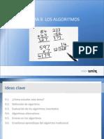 Ideas Tema9. Los algoritmos.