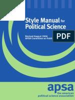 Apsa Style Manual 2006