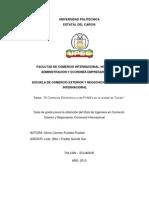 039 El Comercio Electrónico y Las Pymes en La Ciudad de Tulcán - Puetate, Gloria Carmen