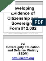 Dev Evidence of Citizenship