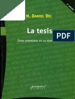 La Tesis - Como Orientarse en Su Elaboracion (1)