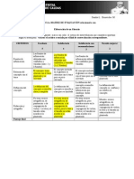 Matriz de evaluación para un glosario
