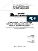 Estrategias Motivacionales Para Elevar El Clima Organizacional en La Empresa Inspecciones Unidas (1)