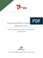 CMMI ML3 for Development - Generic Roadmap