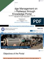 APNRTC UIC Knowledge Management on Indian Railways through Knowledge Portal