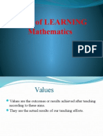 Values of LEARNING Mathematics