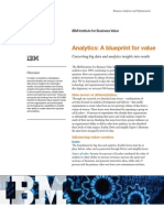 Analytics a Blueprint for Value