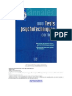 eBook 1000 Tests Psychotechniques Corrigés - André Combres