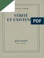 Sartre Verite Et Existence