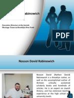 Nosson Dovid Rabinowich - Academics & Career