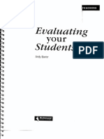Evaluating Your Students