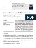 Influences of Madden-Julian Oscillations on the Eastern Indian Ocean and the Maritime Continent