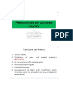 Principles of Access Cavity(1)