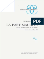 Georges Bataille La Part Maudite Precede de La Notion de Depense