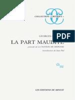 Georges Bataille La Part Maudite Precede de La Notion de Depense