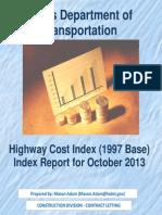 Highway Cost Index Texas