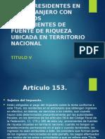 Residentes Extranjeros Art 153-156