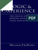 Logika Dan Pengalaman Munculnya Pendidikan Hukum Di Amerika