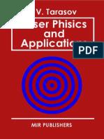 Tarasov Laser Physics and Applications Mir