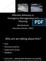 Effective Advocacy in Emergency Management and Planning