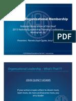 Expanding Organizational Membership