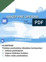 Askep Pre Operasi