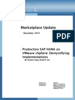 Pund IT Marketplace Update SAP HANA and VMware VSphere
